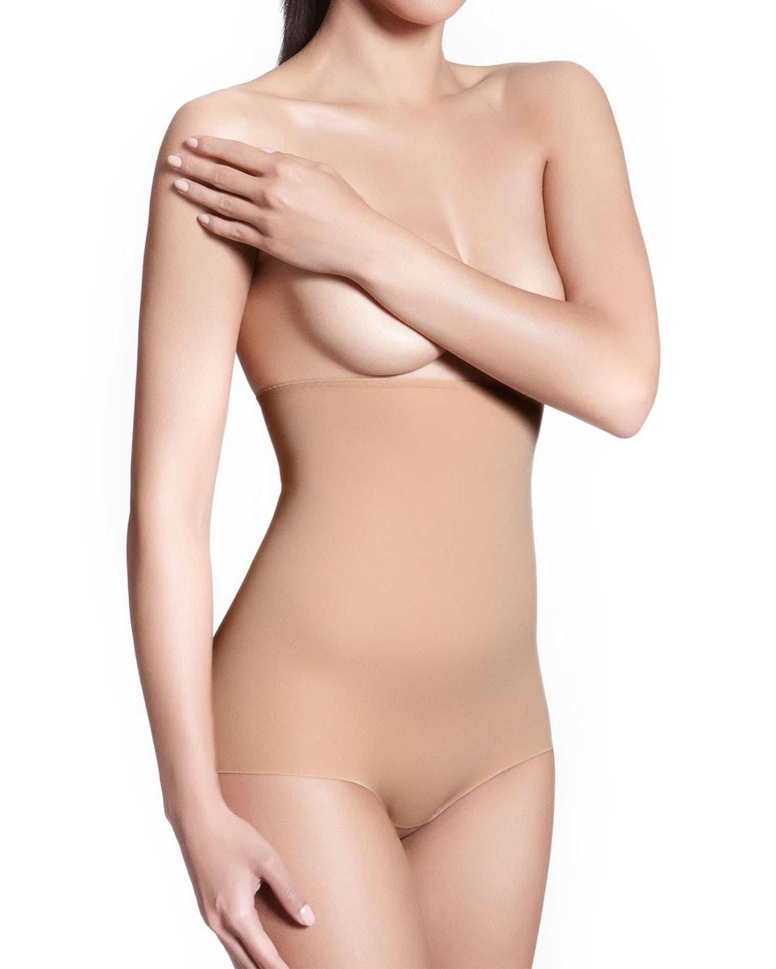 Culotte gainante taille haute - Peau